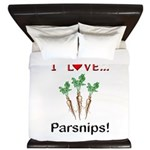 I Love Parsnips King Duvet