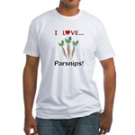 I Love Parsnips Fitted T-Shirt