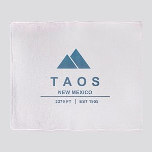 Taos Ski Resort Throw Blanket