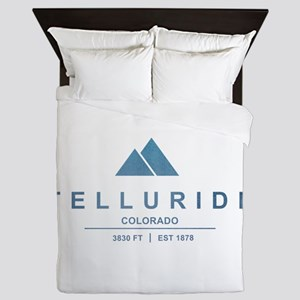 Telluride Ski Resort Queen Duvet