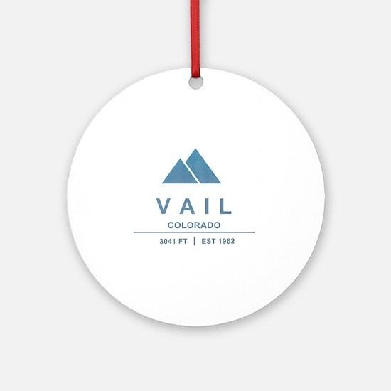 Vail Ski Resort Ornament (Round)