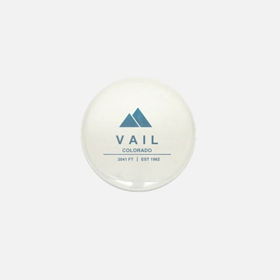 Vail Ski Resort Mini Button