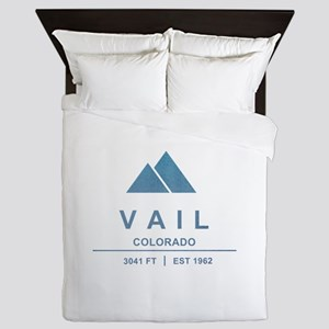 Vail Ski Resort Queen Duvet