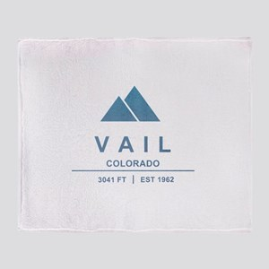 Vail Ski Resort Throw Blanket