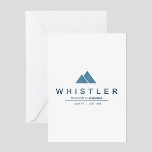 Whistler Ski Resort Greeting Cards