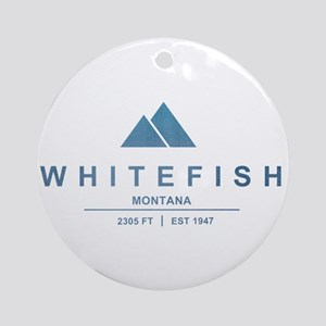 Whitefish Ski Resort Ornament (Round)