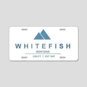 Whitefish Ski Resort Aluminum License Plate