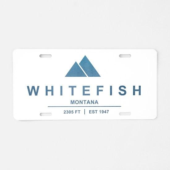 Whitefish Ski Resort Aluminum License Plate