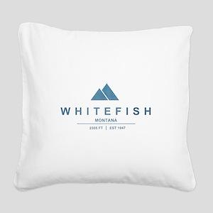 Whitefish Ski Resort Square Canvas Pillow