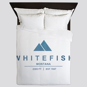 Whitefish Ski Resort Queen Duvet