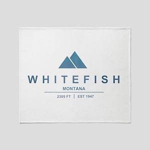 Whitefish Ski Resort Throw Blanket