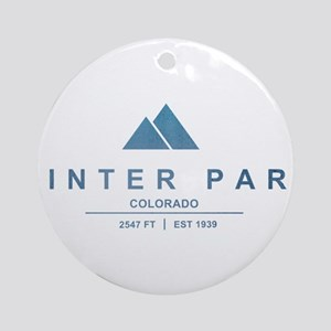 Winter Park Ski Resort Ornament (Round)