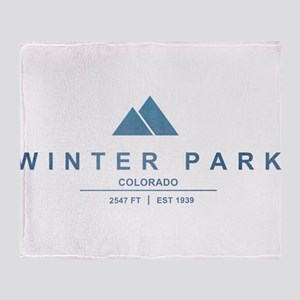 Winter Park Ski Resort Throw Blanket