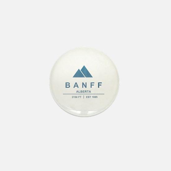Banff Ski Resort Alberta Mini Button