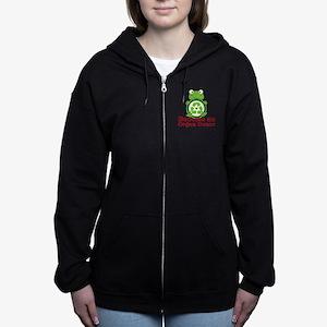 Organ donor recycle frog Women's Zip Hoodie