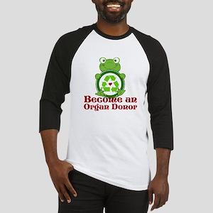 Organ donor recycle frog Baseball Jersey