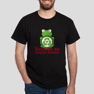 Organ donor recycle frog Dark T-Shirt