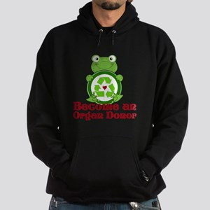 Organ donor recycle frog Hoodie (dark)