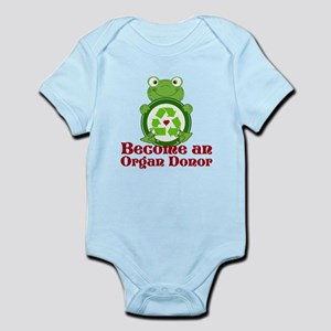 Organ donor recycle frog Infant Bodysuit