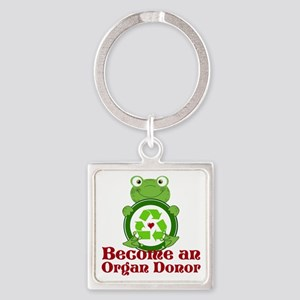 Organ donor recycle frog Square Keychain