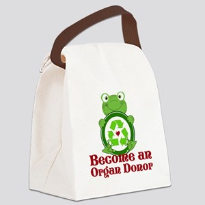 Organ donor recycle frog Canvas Lunch Bag