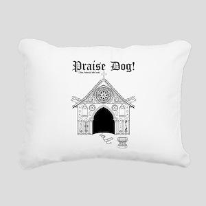 Praise Dog Rectangular Canvas Pillow