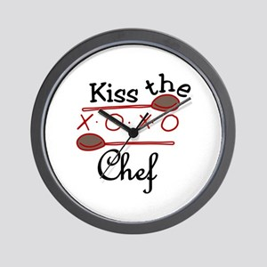 Kiss The Chef Wall Clock
