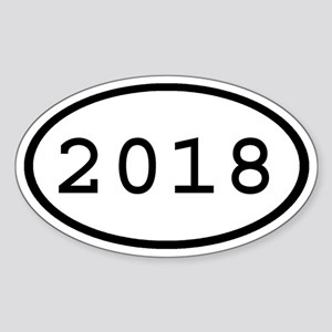 2018 Oval Oval Sticker