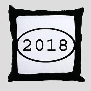 2018 Oval Throw Pillow