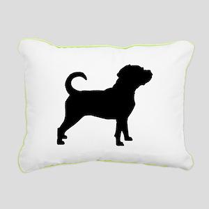 Puggle Dog Rectangular Canvas Pillow
