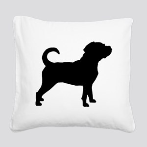 Puggle Dog Square Canvas Pillow