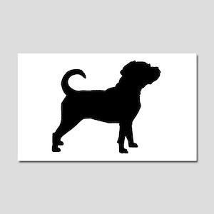 Puggle Dog Car Magnet 20 x 12