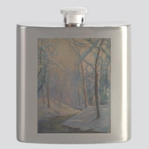 Winter brook pastel Flask