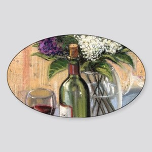 Glass of wine and lilac Sticker
