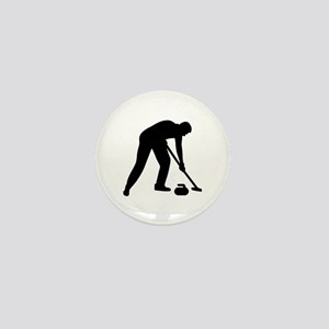 Curling player team Mini Button
