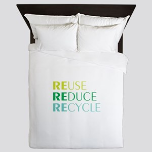 Reduce Reuse Recycle Queen Duvet