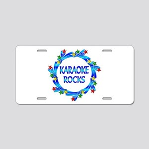 Karaoke Rocks Aluminum License Plate