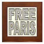 FREE PARIS (BLING EDITION) Framed Tile