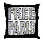 FREE PARIS (BLING EDITION) Throw Pillow