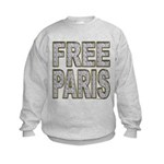 FREE PARIS (BLING EDITION) Kids Sweatshirt