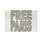 FREE PARIS (BLING EDITION) Rectangle Magnet (10 pa
