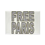 FREE PARIS (BLING EDITION) Rectangle Magnet (100 p
