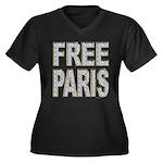 FREE PARIS (BLING EDITION) Women's Plus Size V-Nec