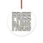 FREE PARIS (BLING EDITION) Ornament (Round)