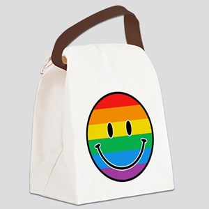 Gay Smiley Canvas Lunch Bag