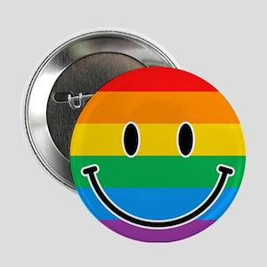 """Gay Smiley 2.25"""" Button"""