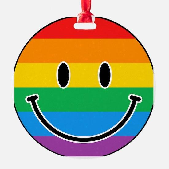 Gay Smiley Ornament