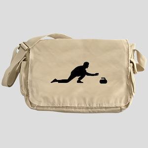 Curling player Messenger Bag