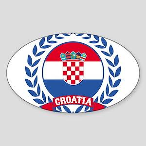 Croatia Wreath Sticker