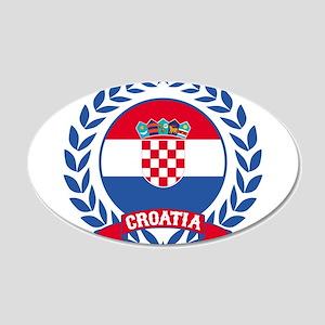 Croatia Wreath Wall Decal
